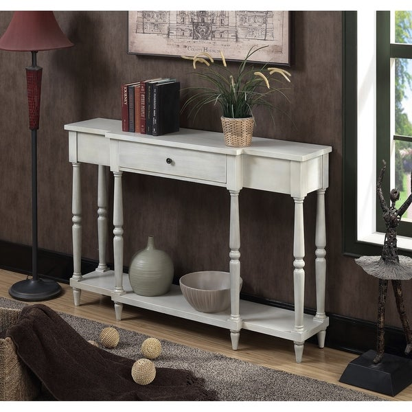 Antique sofa table for sale Antique White Convenience Concepts Wyoming Antique Finish Console Table Shop Convenience Concepts Wyoming Antique Finish Console Table On