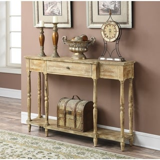 Convenience Concepts Wyoming Antiqued Console Table