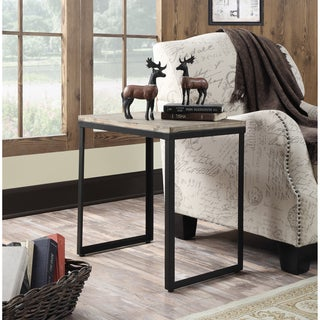 Convenience Concepts Wyoming Wood and Metal End Table