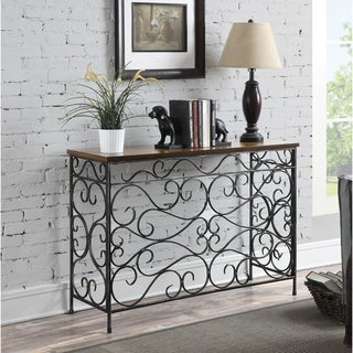 Convenience Concepts Wyoming Metal and Wood Console Table