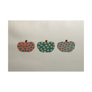 3 Little Pumpkins Geometric Print Indoor/ Outdoor Rug (5' x 7')