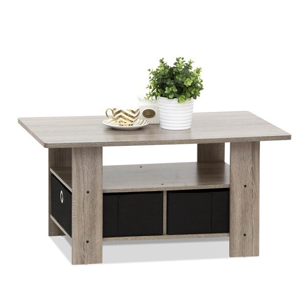 Furinno Coffee Table with Bin Drawer Free Shipping Today