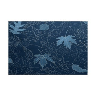 Dotted Leaves Floral Print Indoor/ Outdoor Rug (5' x 7')