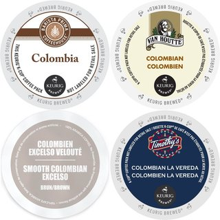 Colombia Coffee 96-ct K-Cup Variety Pack Barista Prima, Van Houtte Colombian Medium, Faro Smooth Colombian & Timothy's La Vereda