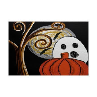 Ooky Spooky Geometric Print Indoor/ Outdoor Rug (5' x 7')
