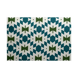 Patna Geometric Print Indoor/ Outdoor Rug (5' x 7')