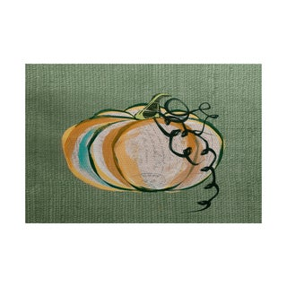 Pumpkin Fest Geometric Print Indoor/ Outdoor Rug (5' x 7')