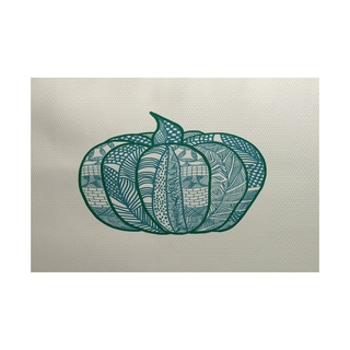 Pumpkin Patch Geometric Print Indoor/ Outdoor Rug (5' x 7')
