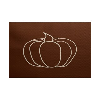 Pumpkin Pie Geometric Print Indoor/ Outdoor Rug (5' x 7')