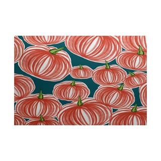 Pumpkins-A-Plenty Geometric Print Indoor/ Outdoor Rug (5' x 7')