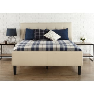 Priage Queen Upholstered Button-Tufted Platform Bed