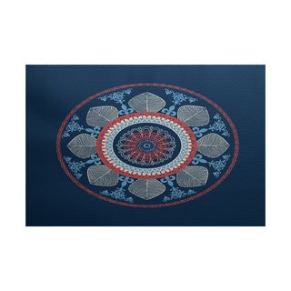 Stained Glass Geometric Print Indoor/ Outdoor Rug (5' x 7')