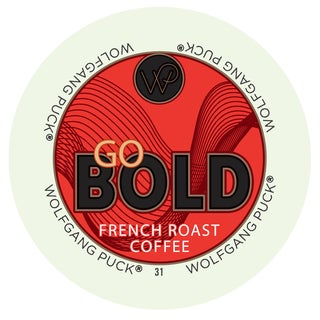 Wolfgang Puck Go Bold French Roast Coffee RealCup Portion Pack for Keurig Brewers
