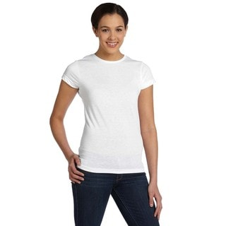 Girls' White Polyester T-shirt