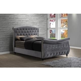 Meridian Hudson Grey Velvet Sleigh Bed|https://ak1.ostkcdn.com/images/products/12226624/P19071069.jpg?impolicy=medium