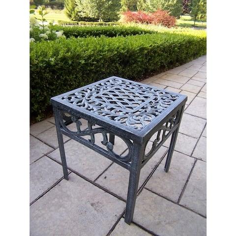 Dakota Cast Aluminum 17-inch Square Side Table