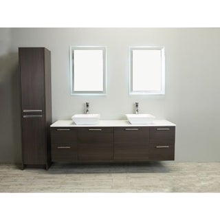 eviva luxury 72 inch grey oak bathroom vanity cabinet