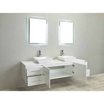 Shop Totti Wave 60 Inch White Modern Bathroom Vanity With Counter