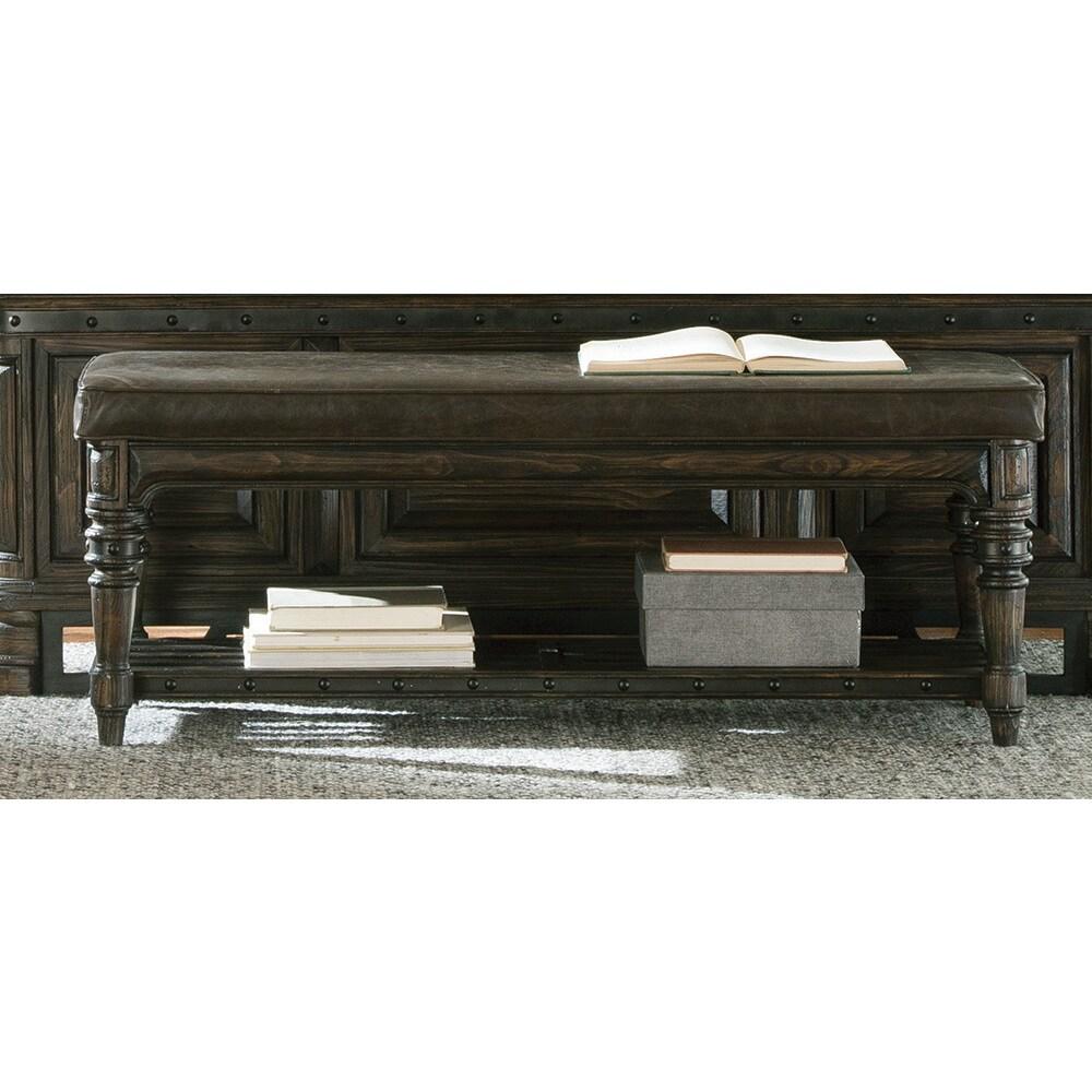 Miraculous Coaster Company Brown Wood Lower Shelf Bench Inzonedesignstudio Interior Chair Design Inzonedesignstudiocom