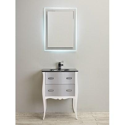 Shop Eviva Aranjuez 24 Inch White And Silver Modern Bathroom Vanity