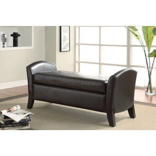 Coaster Company Dark Brown Storage Bench