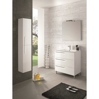 Eviva Vitale White 24-inch Bathroom Vanity with White Integrated Porcelain Sink