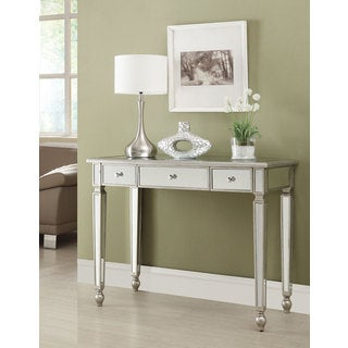 Coaster Company Traditional Silvertone Mirrored Console Table