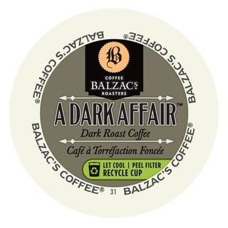 Balzac's Coffee Roasters Dark Affair, RealCup Portion Pack For Keurig Brewers