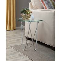 Coaster Company Contemporary Chrome and Glass Accent Table