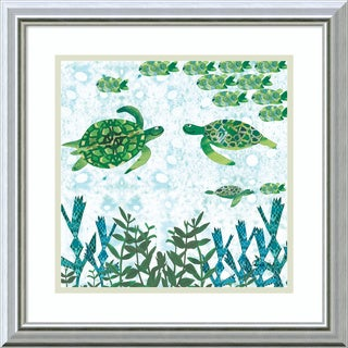 Framed Art Print 'Turtles' by Sarah Millin 18 x 18-inch