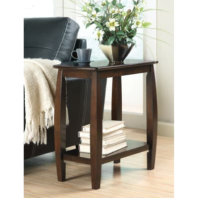 Coaster Company Walnut Wood Bow-Legged Side Table