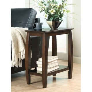 Coaster Company Walnut Wood Bow-Legged Side Table