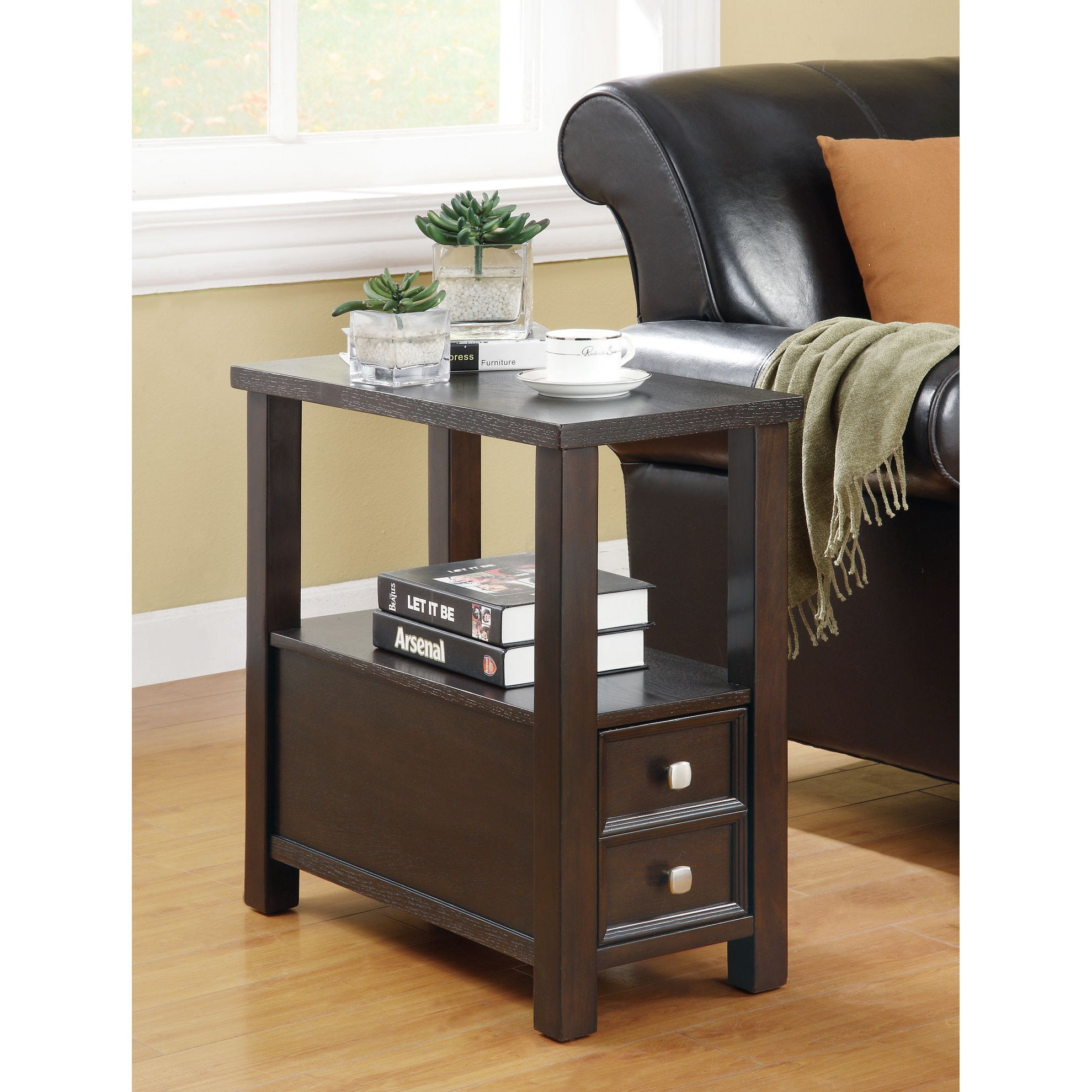 "Shop Coaster Company Cappuccino Single Drawer Side Table - 24"" x"
