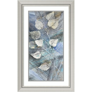 Framed Art Print 'Silver Leaves I' by Albena Hristova 20 x 32-inch