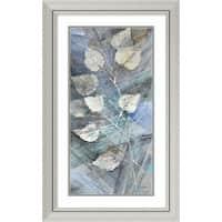 Framed Art Print 'Silver Leaves I' by Albena Hristova 20 x 32-inch