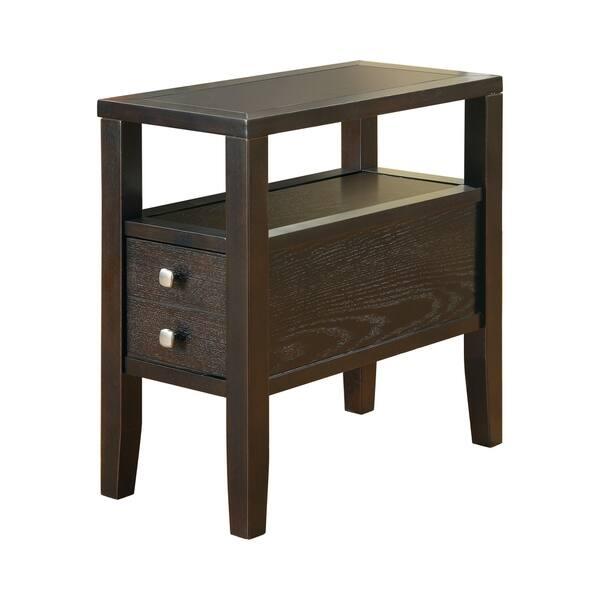 "Shop Coaster Company Cappuccino Storage Side Table - 24"" x 12"" x"