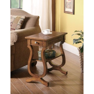 "Coaster Company Warm Brown Curvy Storage Side Table - 24"" x 12"" x 24"""