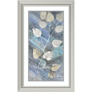 Framed Art Print 'Silver Leaves II' by Albena Hristova 20 x 32-inch