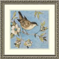 Framed Art Print 'Native Finch I' by Susan Winget 19 x 19-inch