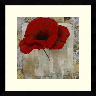 Framed Art Print 'Poppy Red' by Timo 15 x 15-inch
