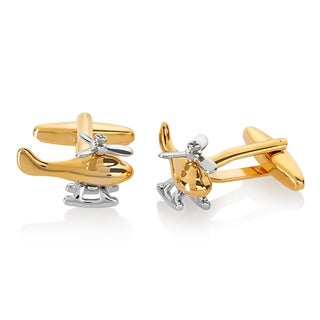 Men's Two-Tone High Polished Helicopter Spinning Propeller Cufflinks