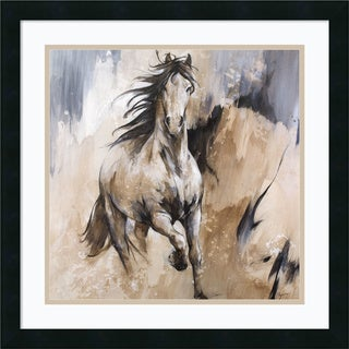 Framed Art Print 'Frison Horse' by Cyril Reguerre 22 x 22-inch