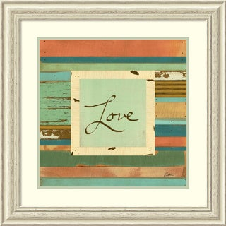 Framed Art Print 'Love' by Grace Pullen 27 x 27-inch