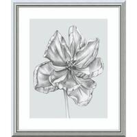 Framed Art Print 'Silvery Blue Tulips IV' by Jennifer Goldberger 22 x 26-inch