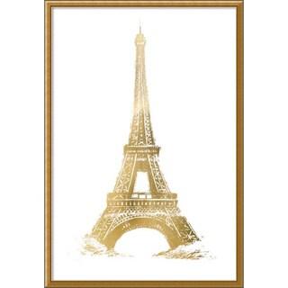 Framed Art Print 'Gold Foil Eiffel Tower Metallic Print' by Vision Studio 32 x 45-inch