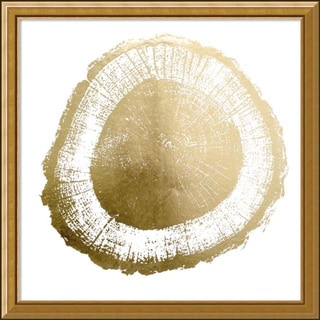 Framed Art Print 'Gold Foil Tree Ring II Metallic Print' by Vision Studio 20 x 20-inch