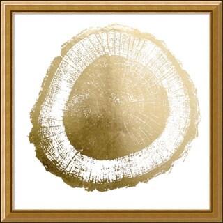 Framed Art Print 'Gold Foil Tree Ring II Metallic Print' by Vision Studio 20 x 20-inch