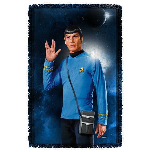 Star Trek/Spock Graphic Woven Throw
