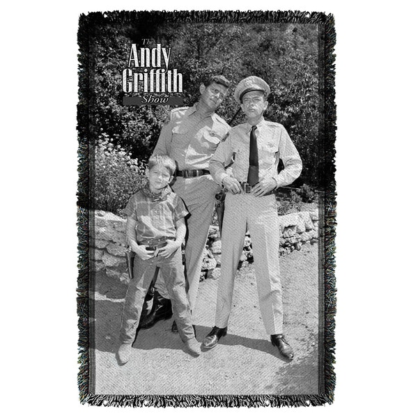 Andy Griffith/Lawmen Graphic Woven Throw