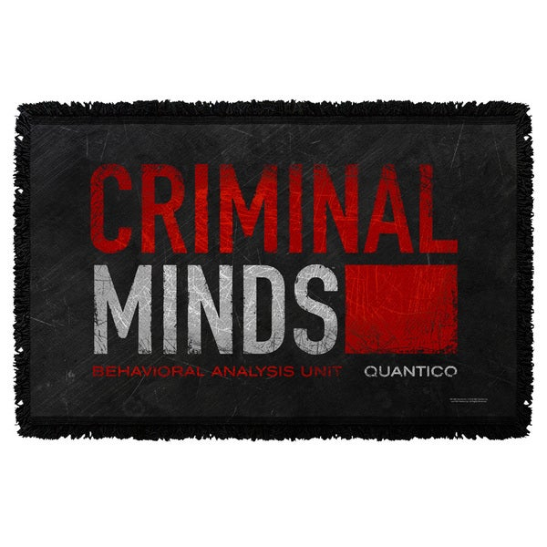 Criminal Minds/Logo Graphic Woven Throw